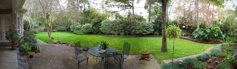 The Burrowes' back yard (panorama)