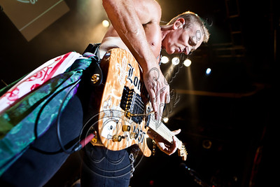 WEST HOLLYWOOD, CA - JUNE 06:  Guitarist Phil Collen of Def Leppard performs at House of Blues Sunset Strip on June 6, 2012 in West Hollywood, California.  (Photo by Chelsea Lauren/WireImage)