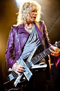 WEST HOLLYWOOD, CA - JUNE 06:  Bassist Rick Savage of Def Leppard performs at House of Blues Sunset Strip on June 6, 2012 in West Hollywood, California.  (Photo by Chelsea Lauren/WireImage)
