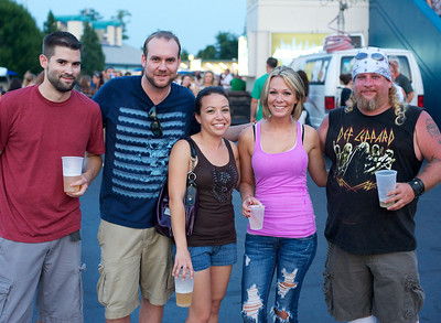 Joe, Adam, Kathleen, Aimee and Earl at Riverbend on Wednesday for Def Leppard and Heart