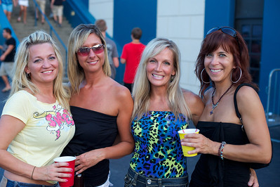 Marla Maphet, Kerry Kearney, Kimberly Boland and Sheryl Maile of Union, KY at Riverbend on Wednesday for Def Leppard and Heart