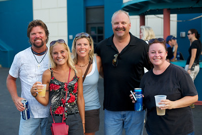 Art, Kristin, Kamie, Brian and Jen from Anderson at Riverbend on Wednesday for Def Leppard and Heart