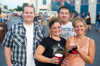 Billy, Mary, Kelly and Dusty from Maysville, KY at Riverbend on Wednesday for Def Leppard and Heart