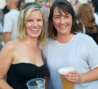 Lori Keller from Springboro and Lauren Thompson from Milford at Riverbend on Wednesday for Def Leppard and Heart