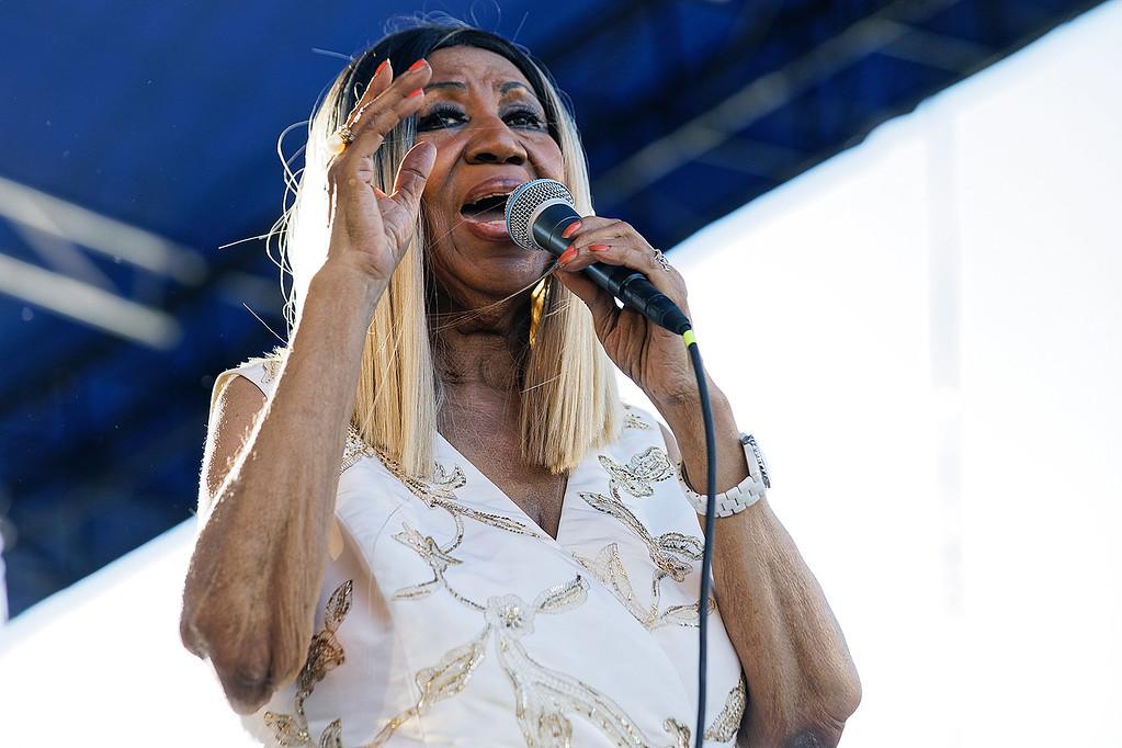 . Aretha Franklin live at Detroit Music Weekend on 6-10-17.  Photo credit: Ken Settle