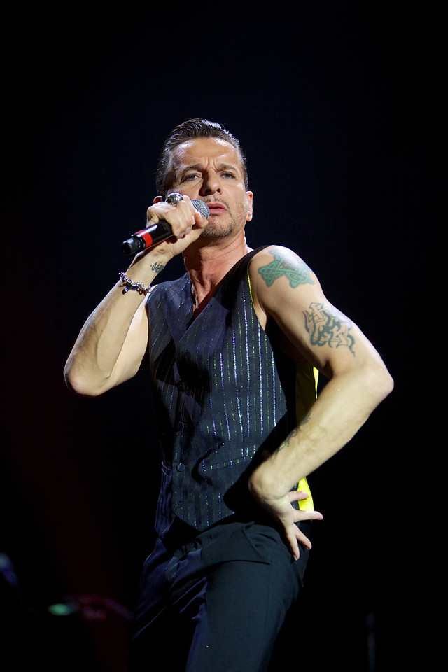 Dave Gahan in concert with Depeche Mode in Nice on 5/4/2013