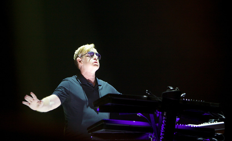 Andy Fletcher playing with Depeche Mode in Nice