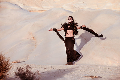 Dancing in the Desert and undere the starts with Elizabeth Zohar