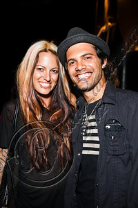 WEST HOLLYWOOD, CA - MAY 24:  Guitarist Nick Perri (R) and wife Misi Perri pose at Diamond Baby performs at The Viper Room on May 24, 2012 in West Hollywood, California.  (Photo by Chelsea Lauren/WireImage)