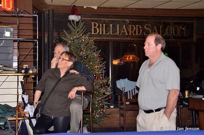 Chuck, Myka, Flynn t 2014 Dilworth Billiards Christmas jam