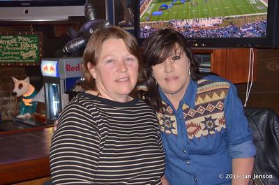 Judy & Jeri at 2014 Dilworth Billiards Christmas jam