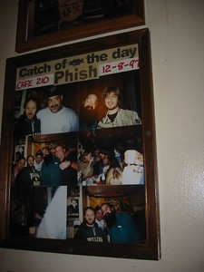 Picture of a picture of when Phish was hanging out at the Cafe.