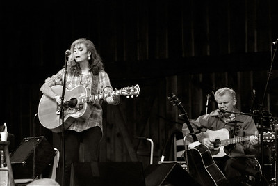 Doc with Emmylou Harris at 1991 or 92 MerleFest.
