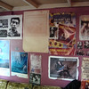 Back wall of performance room.