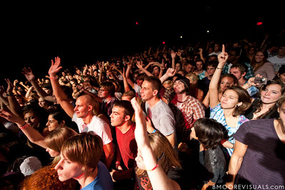 The sold-out crowd dances along as Donnis performs on October 15, 2010 at State Theatre in St. Petersburg, Florida.