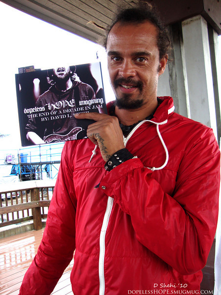 Michael Franti showing the love