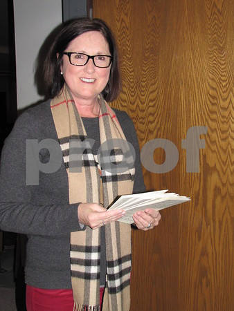Sue Bemrich handed out programs for the concert.