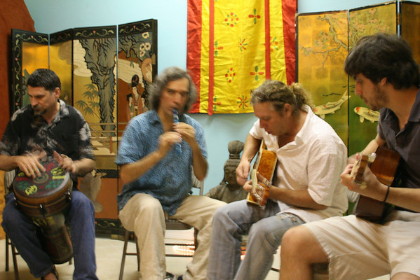 Aug. 9th, 2010 - Doug playing at Love's Chinese Medicine Zen Tea Lounge Opening