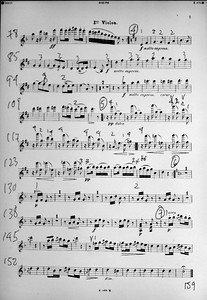 Electronic Score for first violin