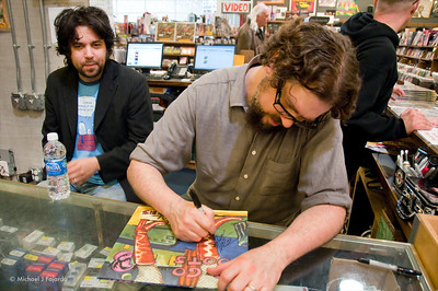 Patterson Hood & Jay Gonzalez Signing Autographs The Drive-By Truckers Go-Go Boots Tour Twist & Shout Music Store March 18, 2011