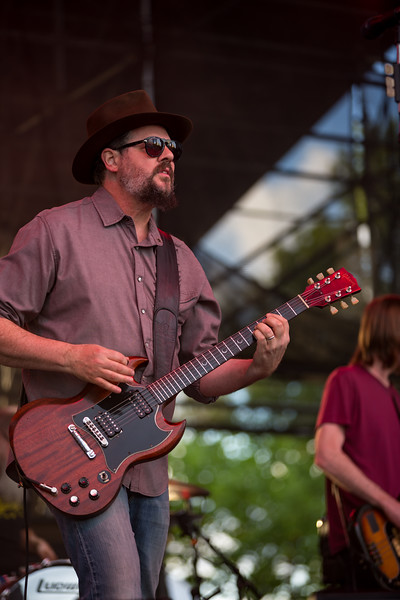 July 20, 2018 Drive By Truckers opening for Tedeschi Trucks Band at the Indiana Farm Bureau Insurance Lawn in Indianapolis, Indiana.