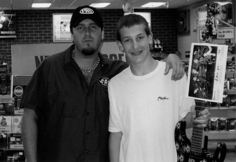 Tyler Michalek with Patrick Davey b&w