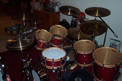 1997 Ayotte Drums acoustic kit.