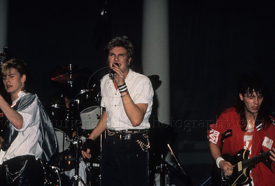 DuranDuran_lp_1017 English pop group Duran Duran perform live in concert at Madison Square Garden, New York City 1985 ©Laurie Paladino 1985 Pictured are John Taylor, Lead Singer Simon LeBon and Andy Taylor
