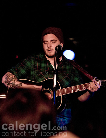 Dustin Kensrue performs live at Subterranean in Chicago, January 31, 2009