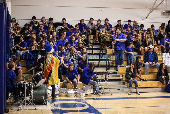 EDHS Band at EDHS Mens Basketball Game