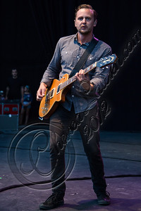 COSTA MESA, CA - AUGUST 08:  Guitarist Jon Siebels of EVE 6 performs at Pacific Amphitheatre on August 8, 2012 in Costa Mesa, California.  (Photo by Chelsea Lauren/WireImage)