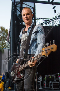 COSTA MESA, CA - AUGUST 08:  Vocalist / bassist Max Collins of EVE 6 performs at Pacific Amphitheatre on August 8, 2012 in Costa Mesa, California.  (Photo by Chelsea Lauren/WireImage)