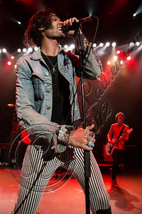 COSTA MESA, CA - AUGUST 08:  Vocalist Tyson Ritter of The All-American Rejects performs at Pacific Amphitheatre on August 8, 2012 in Costa Mesa, California.  (Photo by Chelsea Lauren/WireImage)