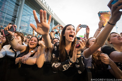 Fans go crazy as Ed Sheeran performs on December 8, 2012 during the Y100 Jingle Ball at BB&T Center in Sunrise, Florida