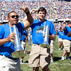 The EIU marching band made the trip to perform during the halftime show at the Chicago Bears season opener against the Detroit Lions at Soldier field in Chicago, Illinois on Sunday, September 12, 2010.  (Jay Grabiec)