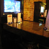 TVs at the bar tables