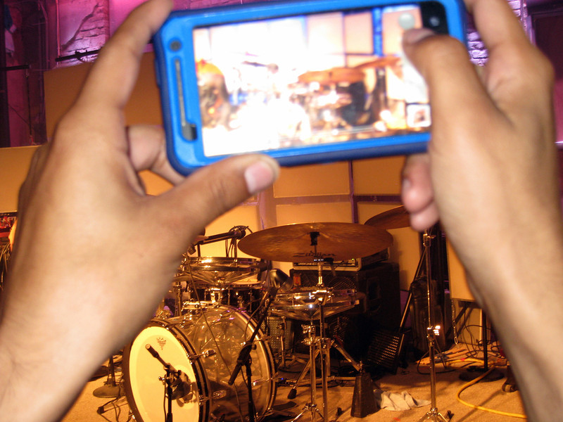 Caught Joseph taking a snap of the drumkit