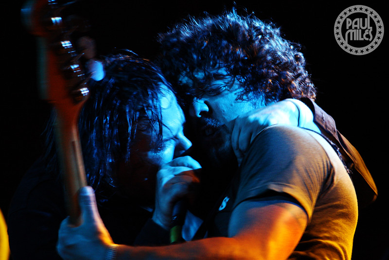 BROTHERLY LOVE: Rusty and Alex of classic hard rock band Electric Mary on stage in their hometown Melbourne, Australia.
