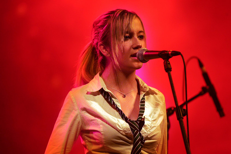 Aoife Moloney from Listowel  and lead singer with the Electrodes the Tralee based band that got o back up Hothouse Flowers at the INEC in Killarney as part of the Summerfest.<br /> Photo Brendan Landy
