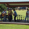 Ellis with the Red Dirt Rangers performing at the Children's Festival at noon.