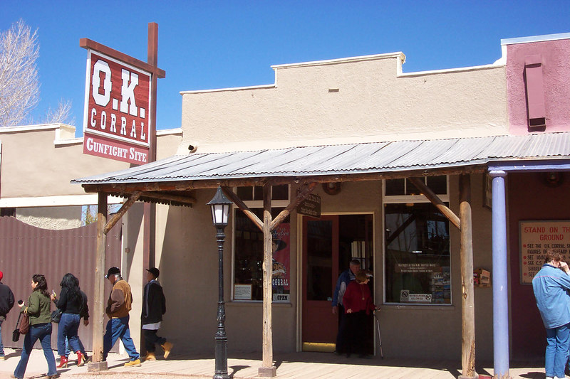 Shots when Becky and I stopped for lunch in historic downtown Tombstone, AZ. -March 3, 2007