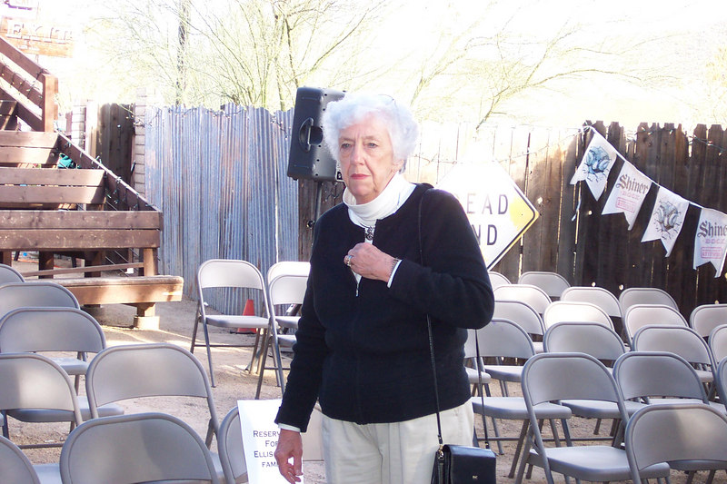Ellis' mom Marilyn at the Cave Creek Coffee Company - Cave Creek, AZ- March 4, 2007