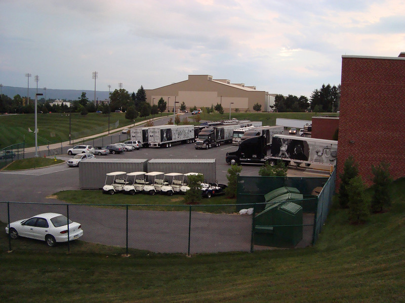 There were six tractor-trailer trucks behind the BJC transporting Sugarland's The Incredible Machine Tour.