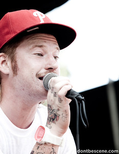 Emarosa perform live at the Vans Warped Tour in Milwaukee on 07/29/10