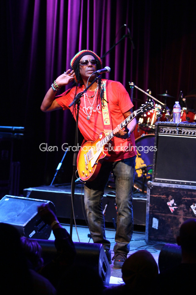 "Let me hear you!! ""Until the philosophy that hold one race superior against another, is finally and permanently, utterly destroyed, everywhere is war"". Junior Reid, a member of the original Bob Marley & the Wailers performing in Charlotte, NC. Marley's message still lives in the words of his famous song ""War""."
