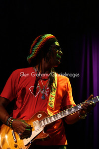 Junior Marvin of the Wailers reggae band. He is one of the original Bob Marley & The Wailers band members.