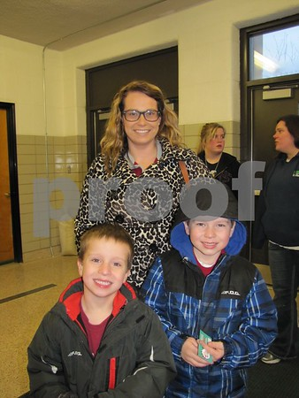 McCallie Jaeschke with her sons Marvin and Quintin attended the musical.