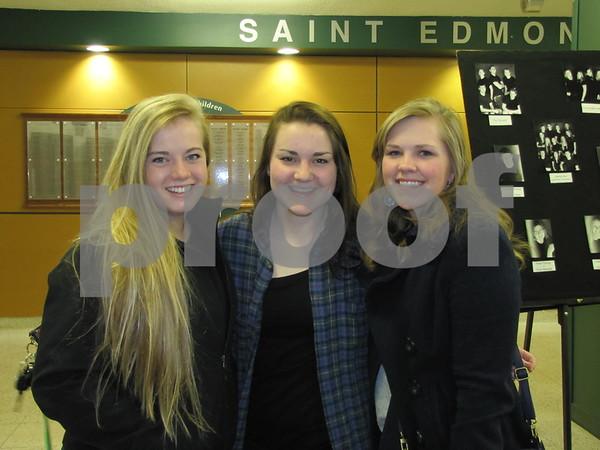 Elizabeth Thomas, Kari Grindberg, and Erin Trunnell attended the St. Eds musical.