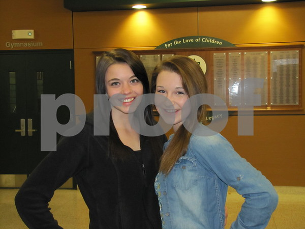 Jasey Beightol and Chloe Lentsch attended the St. Eds musical.