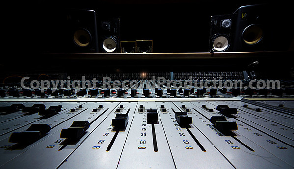 Close up and very wide at 12mm Old Neve mixing board